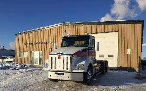 One of C.S. Day Transport's new Kenworth T880 tractors